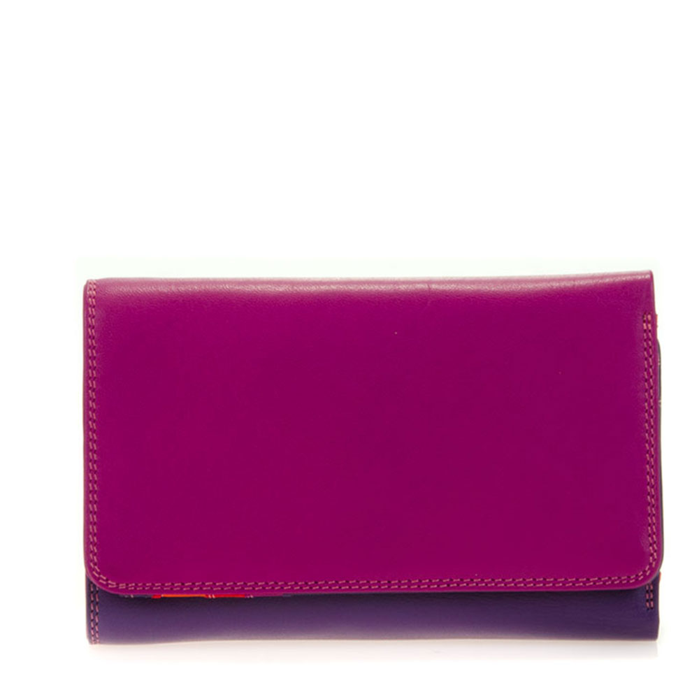 Mywalit Medium Tri-Fold Wallet Outer Zip Portemonnee Sangria Multi