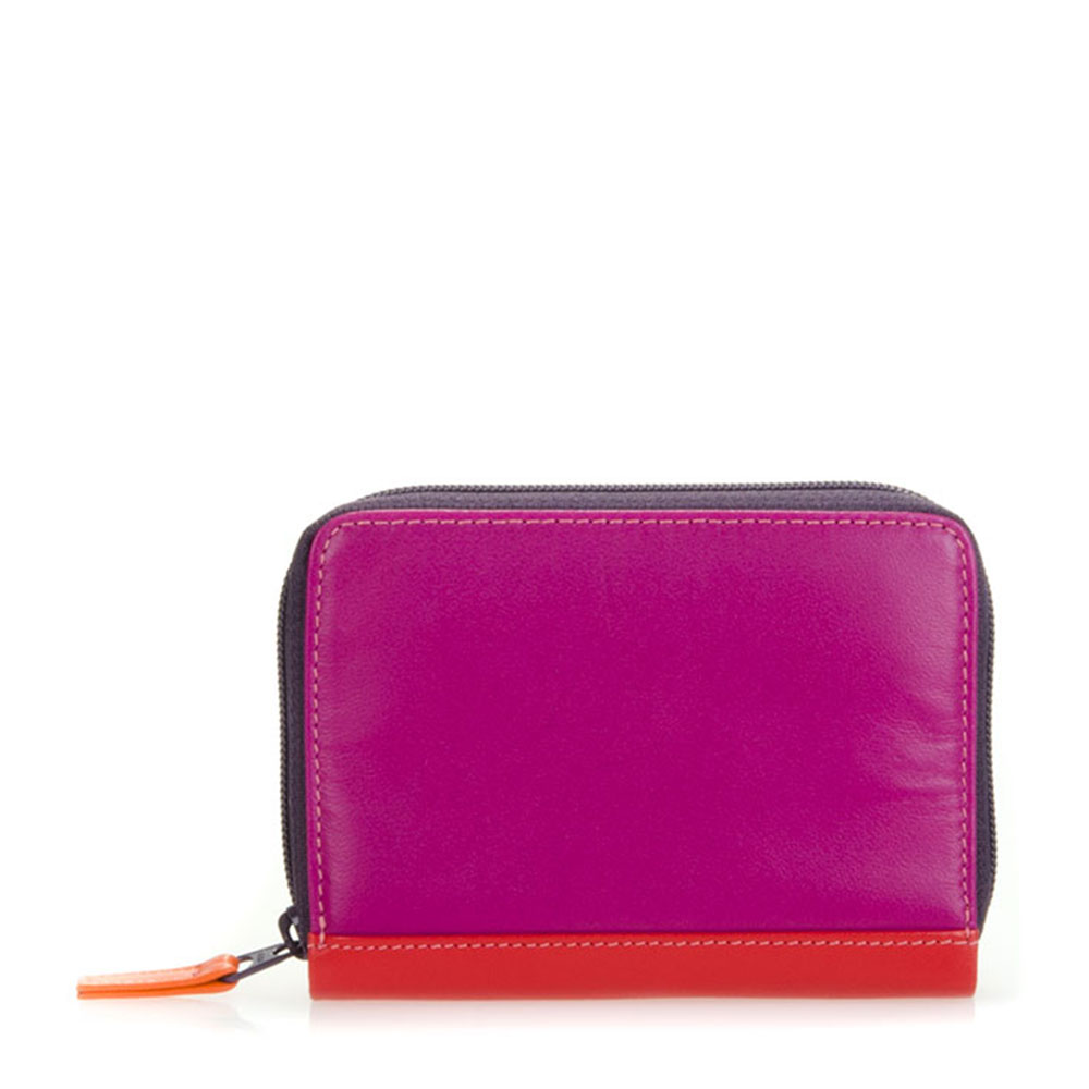 Mywalit Zip Around Credit Card Holder Sangria Multi