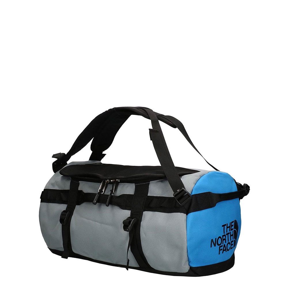 The North Face Gilman Duffel S TNF Black/ Mid Grey/ Clear Lake Blue
