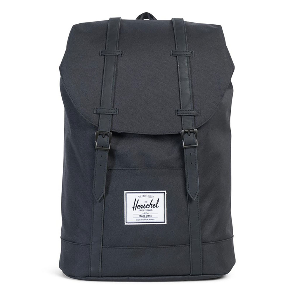 Herschel Retreat Rugzak Black/Black Synthetic Leather