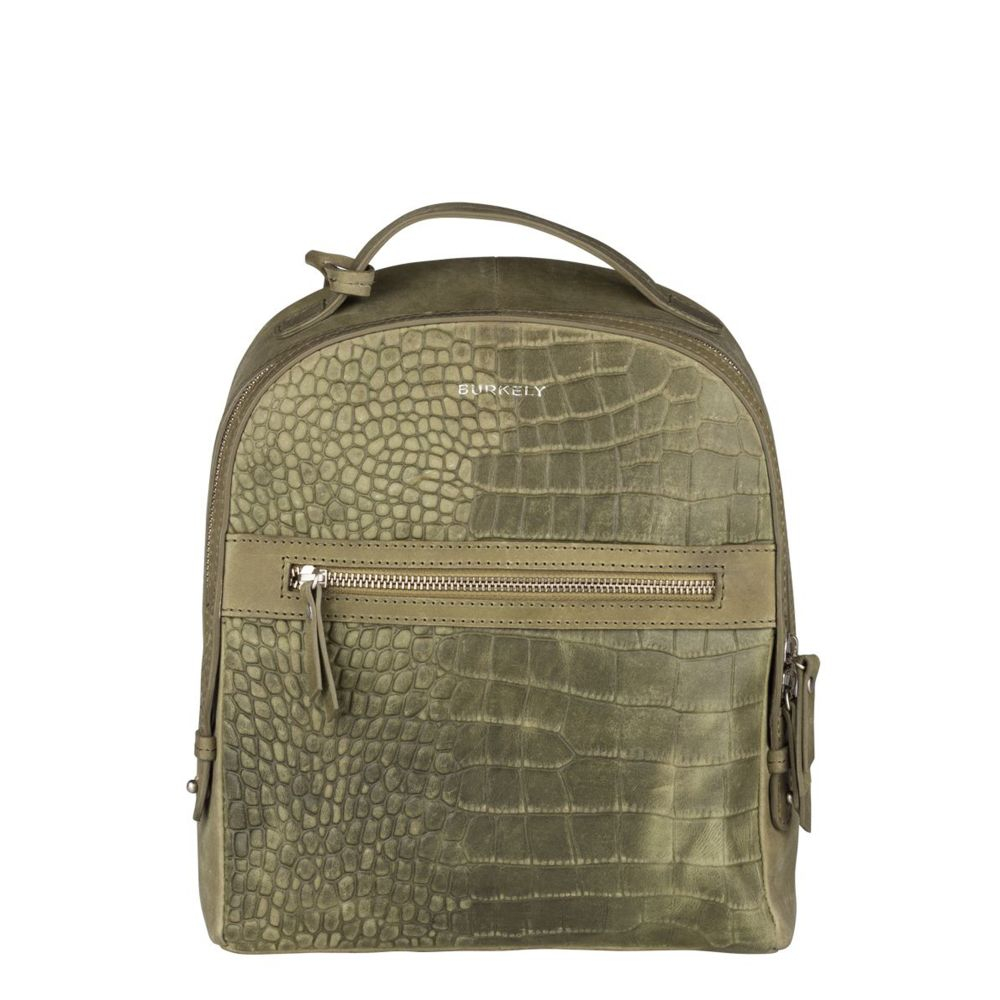 Burkely Croco Cody Backpack Light Green