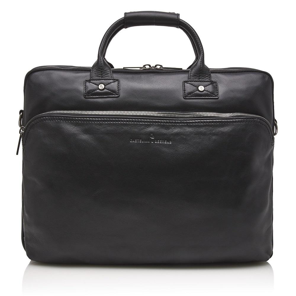 Castelijn & Beerens Firenze Business 3-Vaks Laptoptas 17'' Zwart