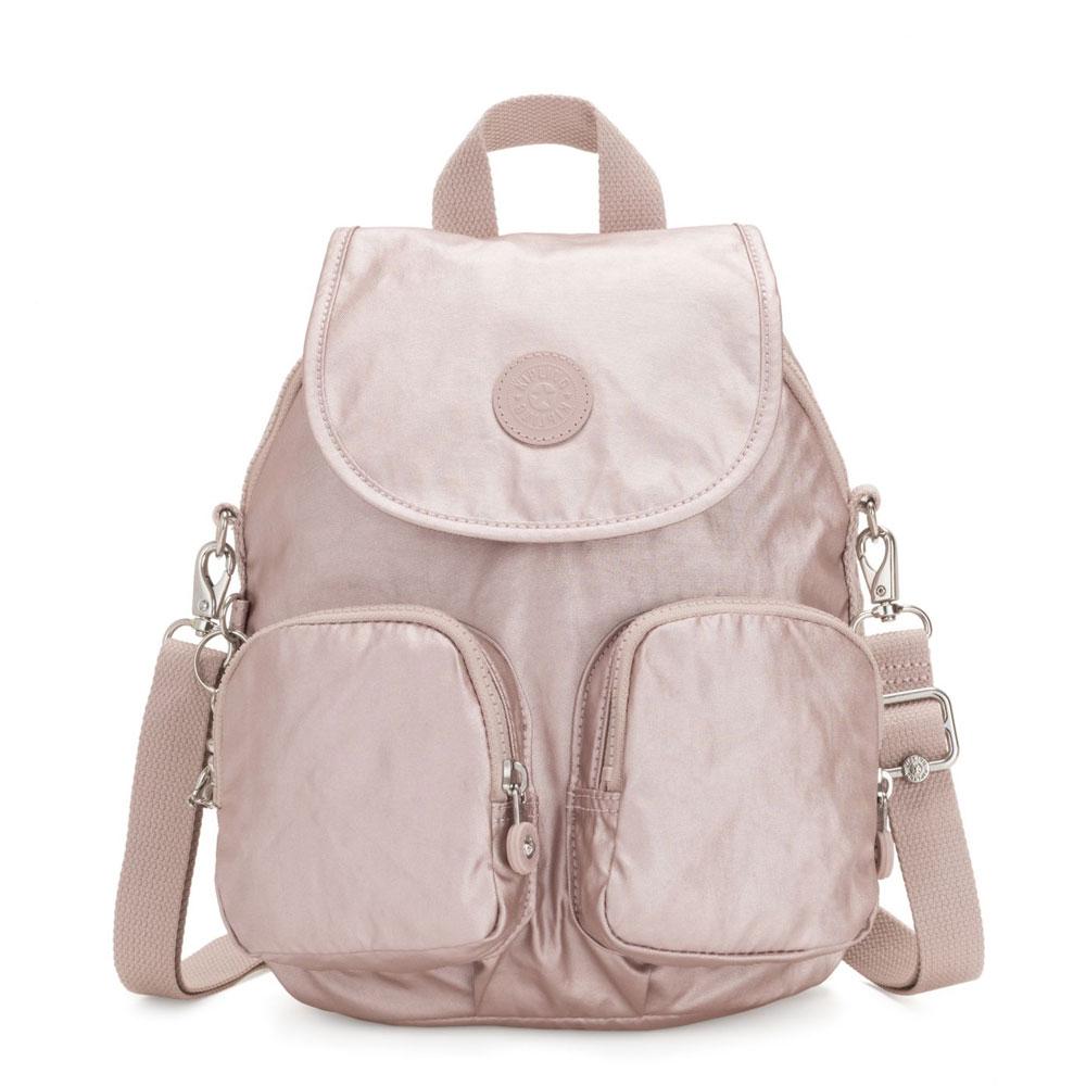 Kipling Firefly Up Backpack Metallic Rose