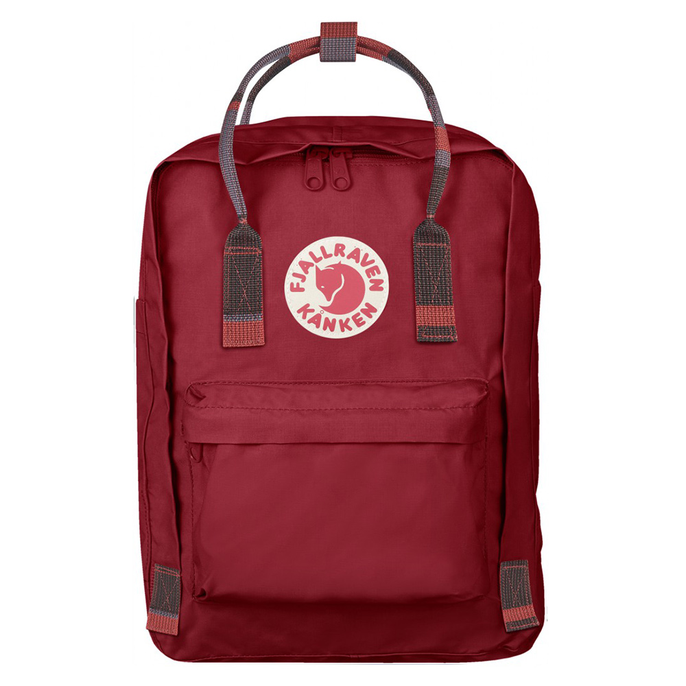 FjallRaven FjallRaven Kanken Laptop 13 Rugzak Deep Red Random Blocked Casual Rugtassen