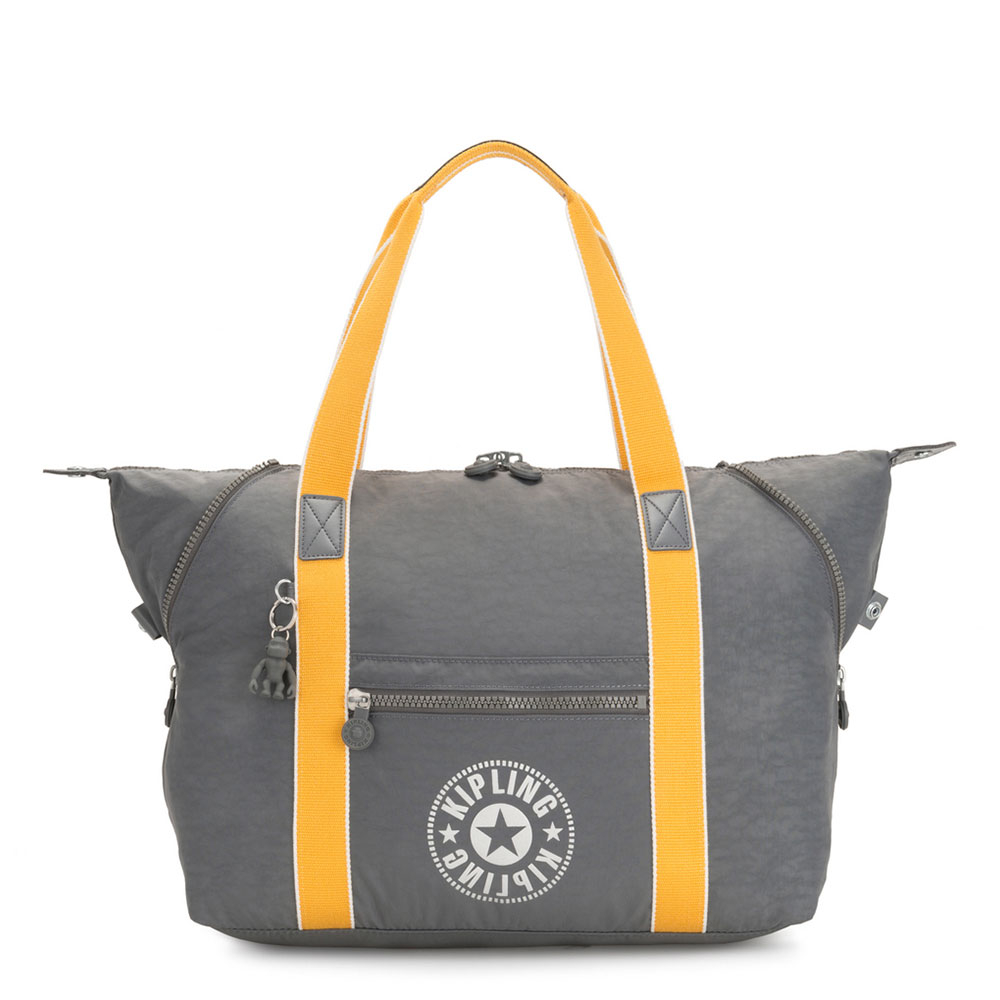 Kipling Art M Reistas Dark Carbon Yellow