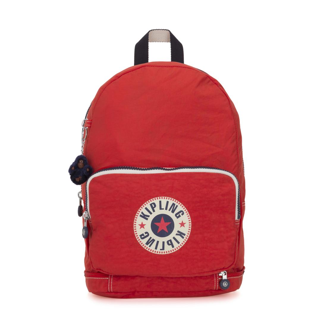 Kipling Classic Niman Fold Backpack Active Red Block