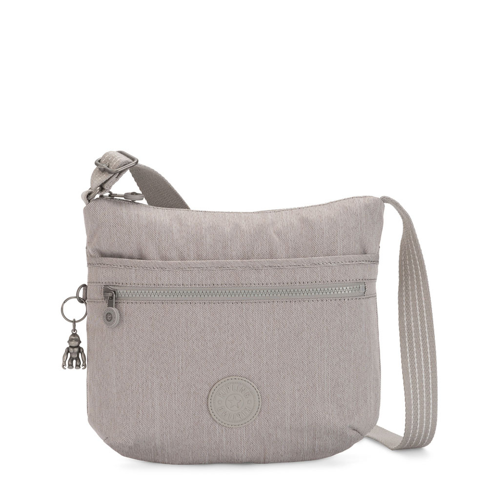 Kipling Arto Schoudertas Grey Beige Peppery