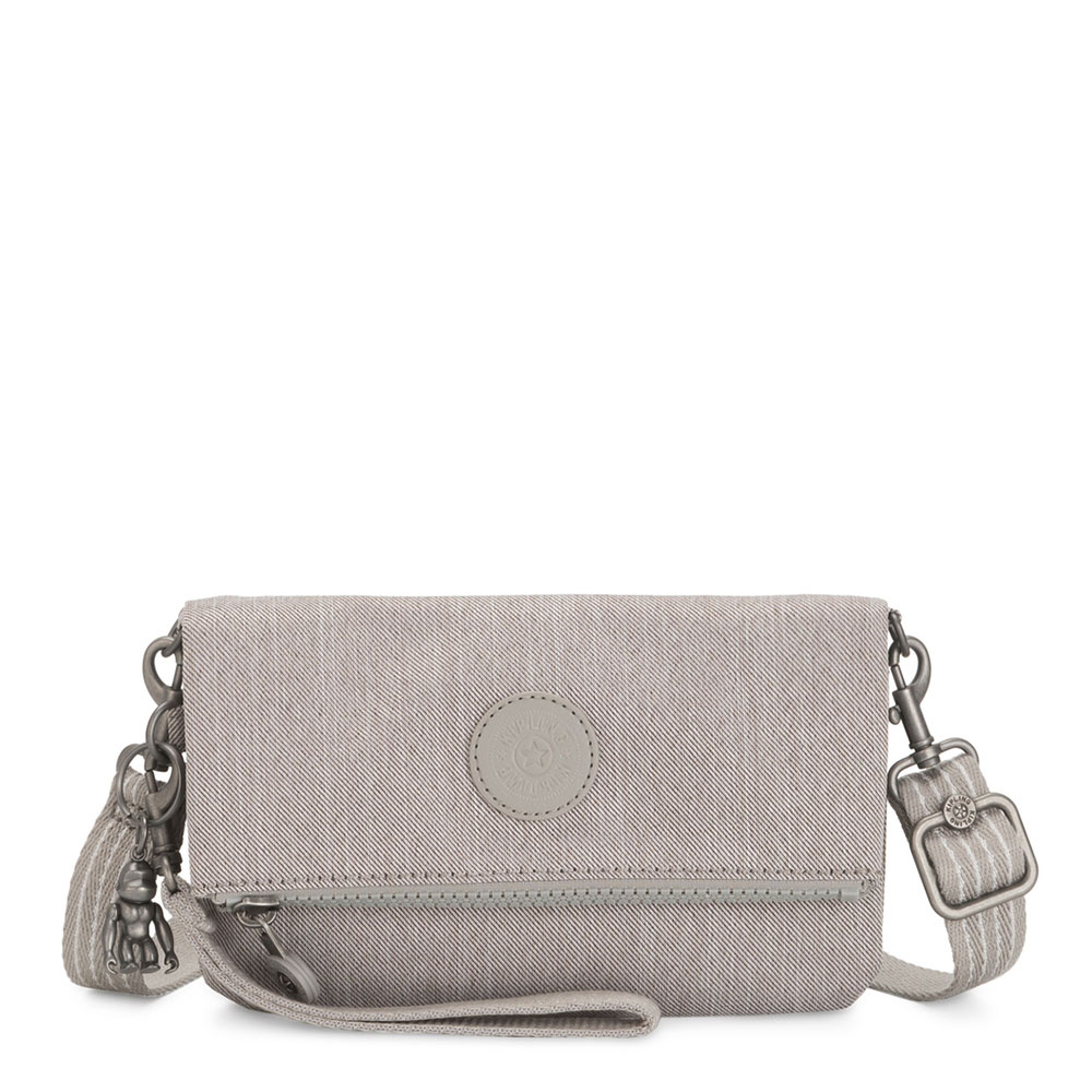 Kipling Lynne Crossbody Grey Beige Peppery