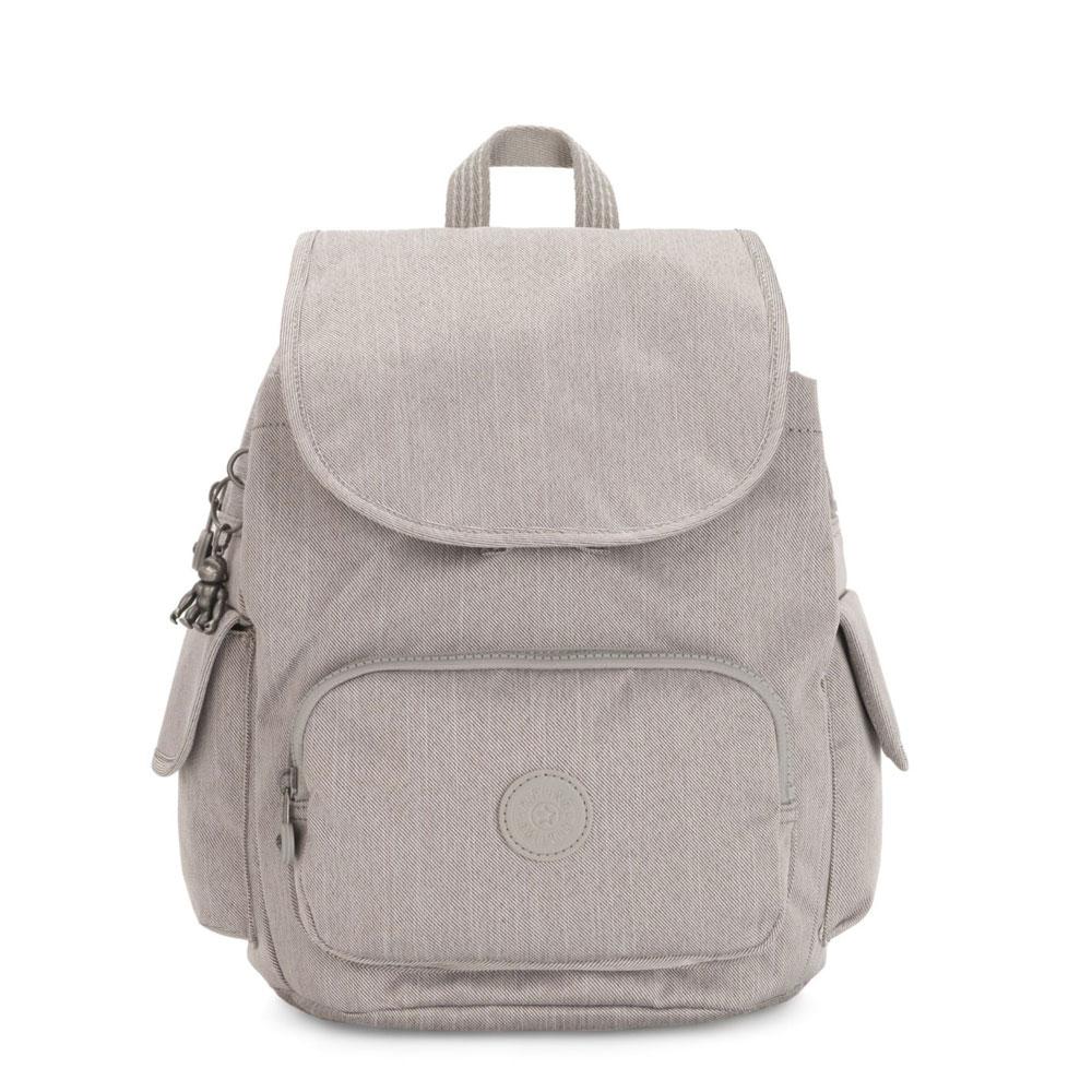 Kipling City Pack S Backpack Grey Beige Peppery