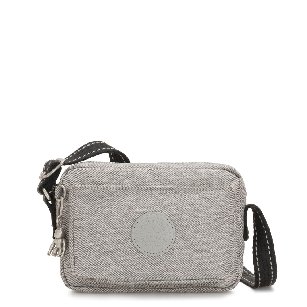 Kipling Abanu Mini Crossbody Chalk Grey
