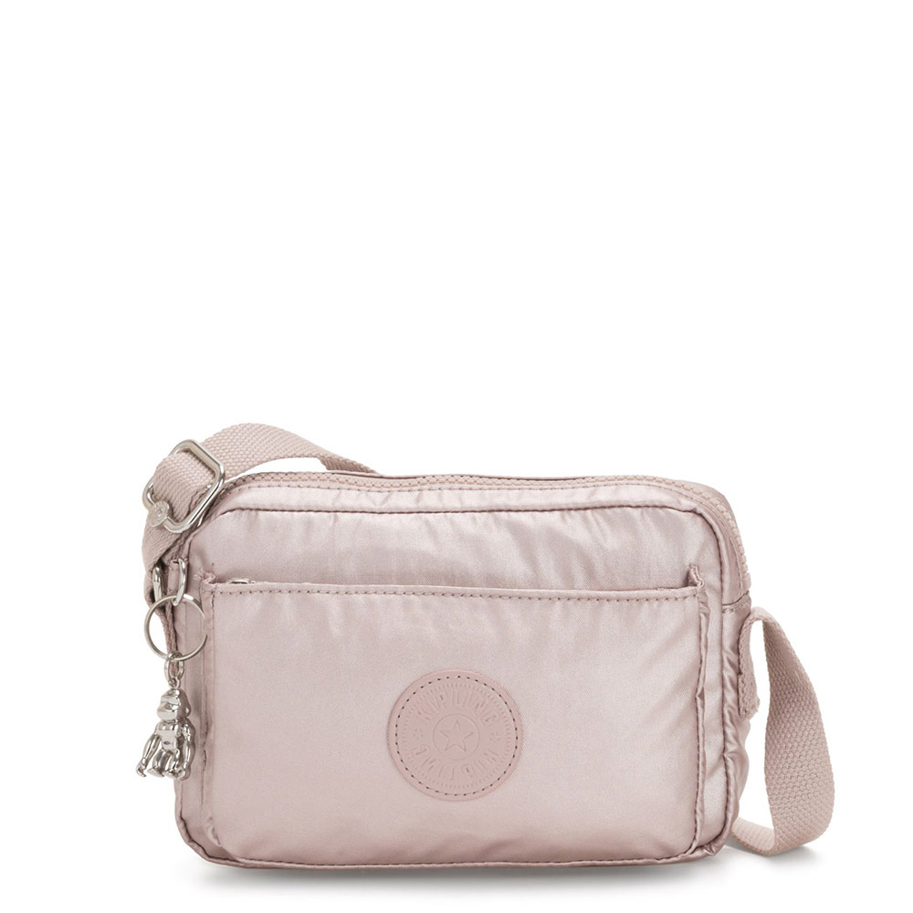 Kipling Abanu Mini Crossbody Metallic Rose