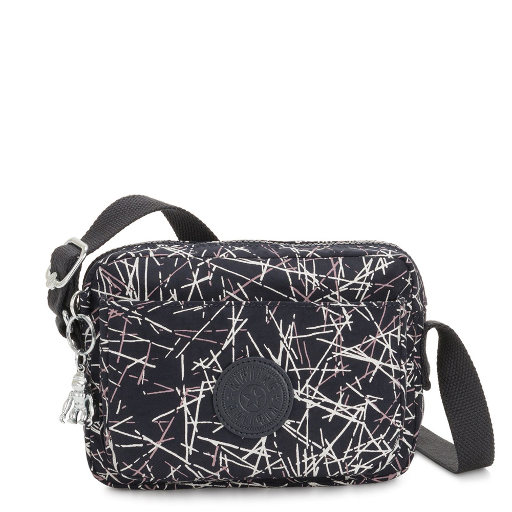 Kipling Abanu Mini Crossbody Navy Stick Print