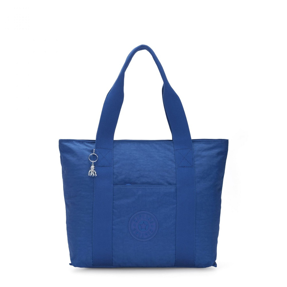 Kipling Era Medium Shopper Tote Wave Blue