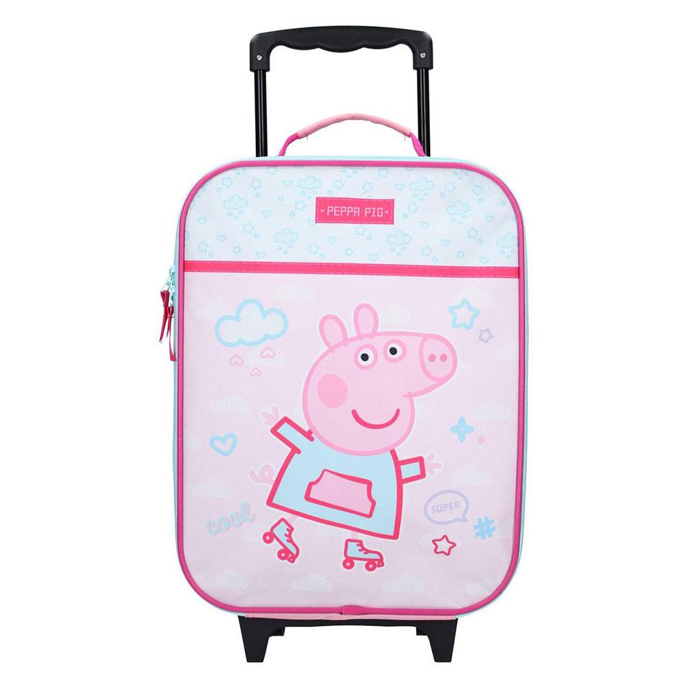 Kidzroom Soft Trolley 2 Wheel Peppa Pig Roll With Me