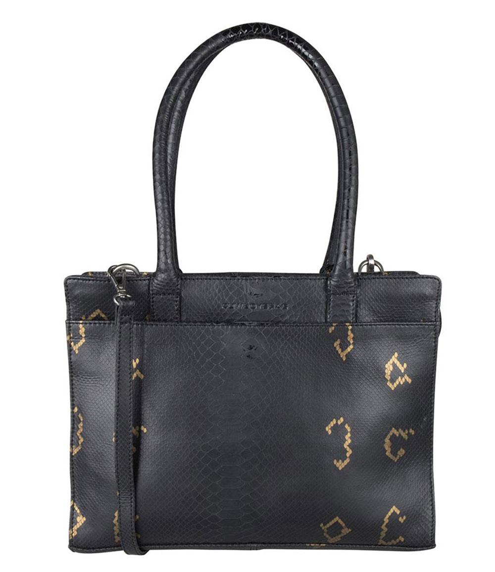 Cowboysbag X Bobbie Bodt Bag Jade 13 Schoudertas Snake Black And Gold