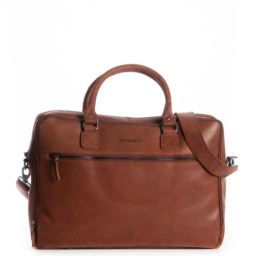DSTRCT Liberty Street Business Laptoptas 17'' Cognac 40897