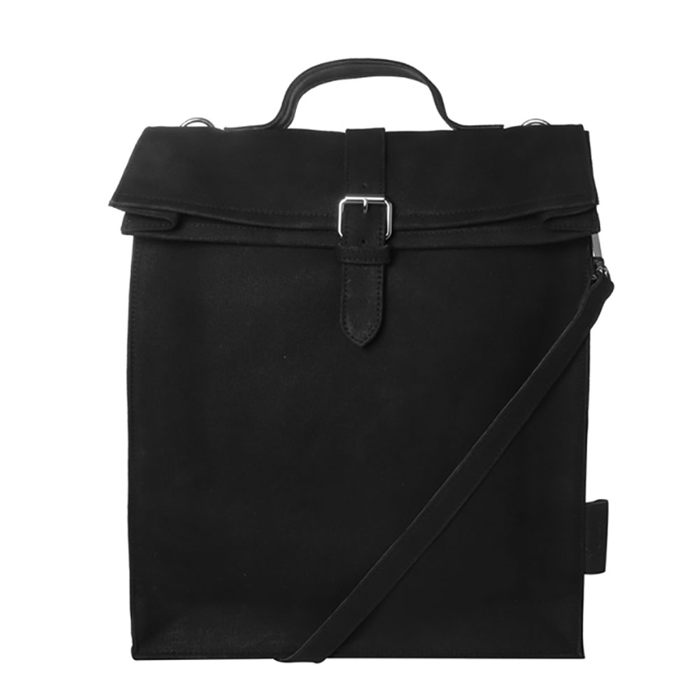 Laauw AMS The Nine Streets Laptop Bag Black Canvas