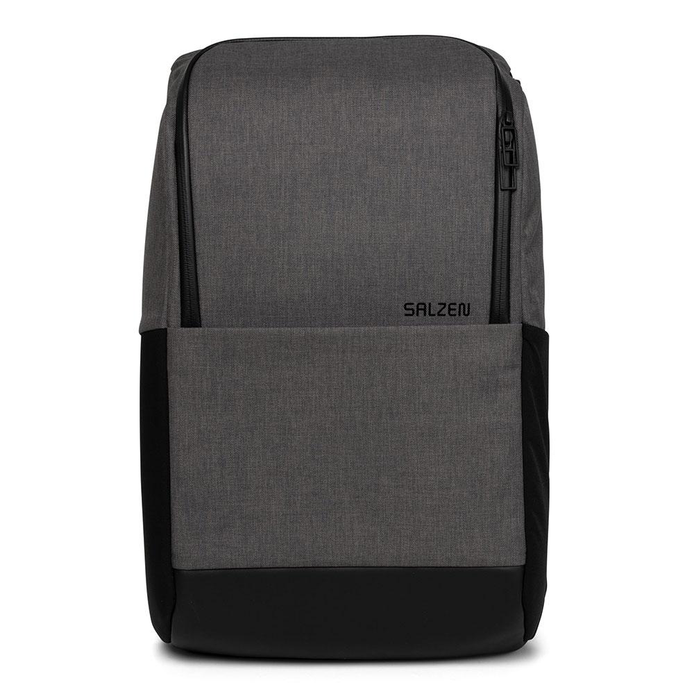 Salzen Sleek Line Fabric Daypack Backpack Storm Grey