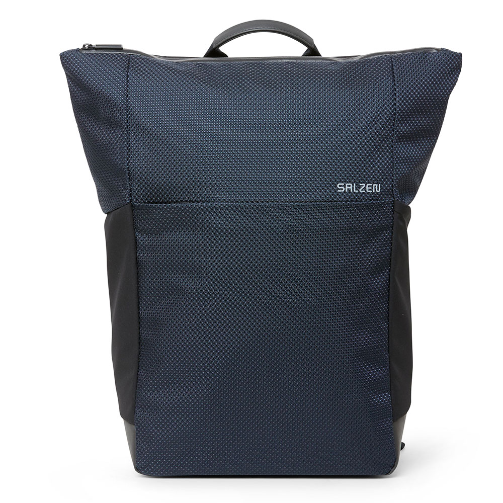 Salzen Sleek Line Fabric Plain Backpack Knight Blue