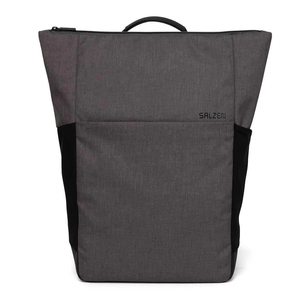 Salzen Sleek Line Fabric Plain Backpack Storm Grey