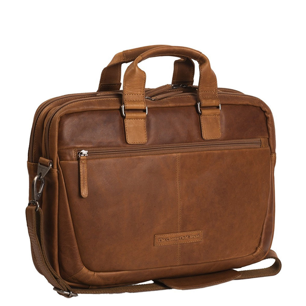 Chesterfield Seth Business Schoudertas 15 Cognac