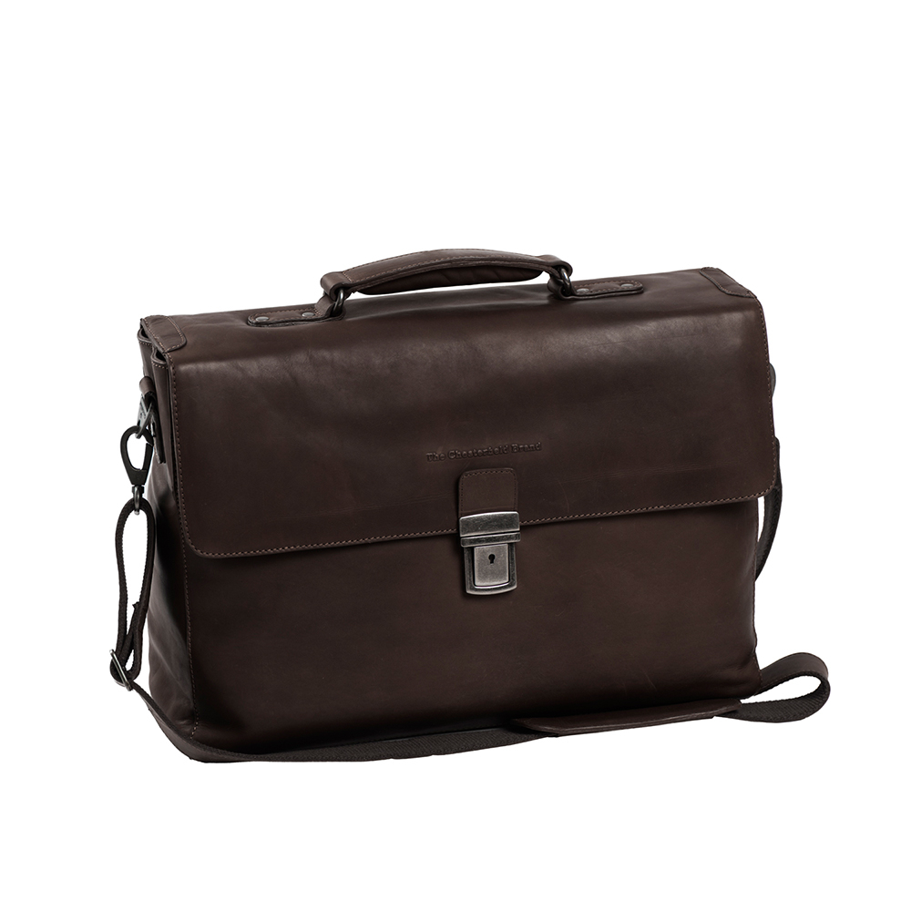 Chesterfield Linz Business Laptop Bag Brown