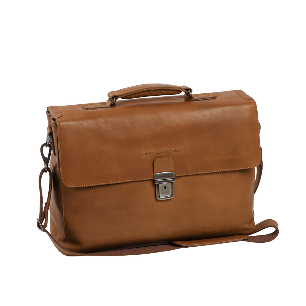 Chesterfield Linz Business Laptop Bag Cognac