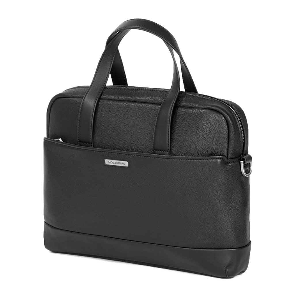 Moleskine Classic Match Leather Briefcase Slim Black