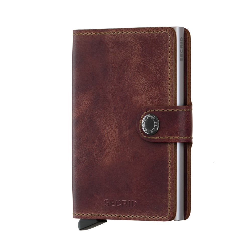 Secrid Mini Wallet Portemonnee Vintage Brown