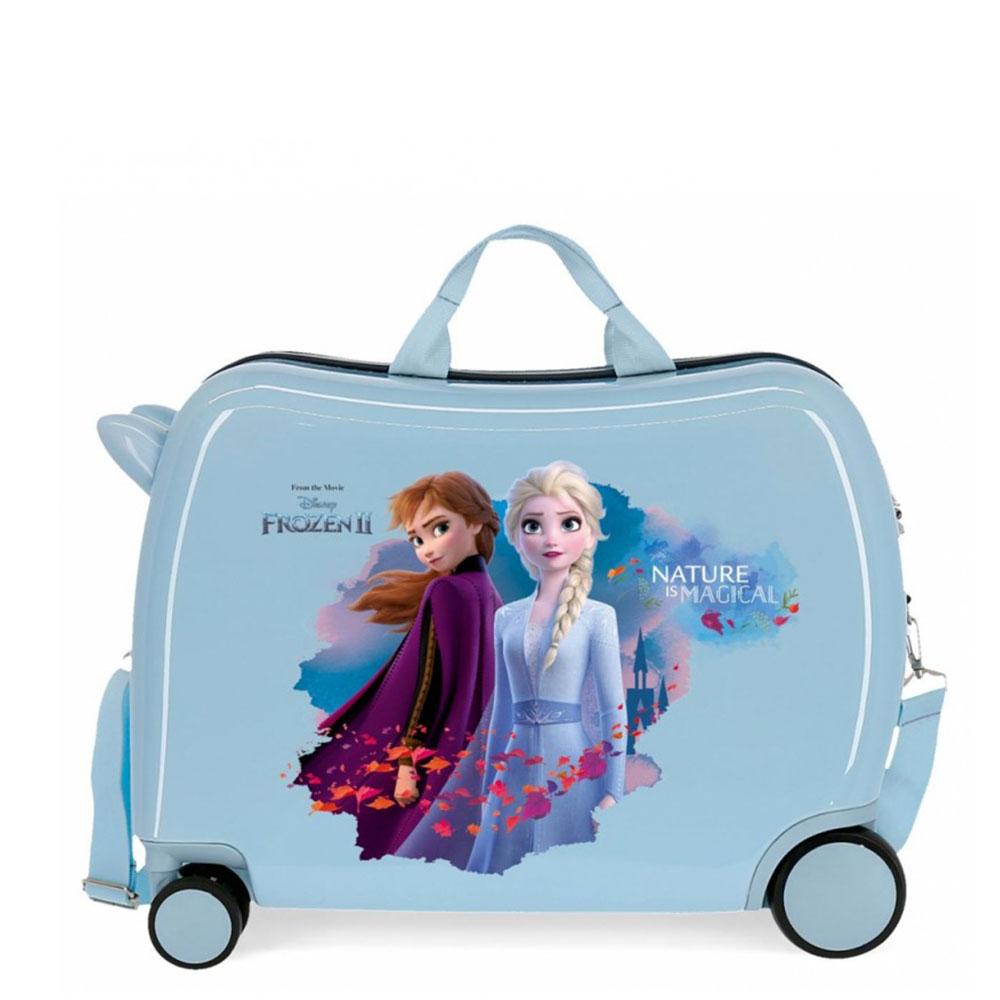 Disney Rolling Suitcase 4 Wheels Frozen II Magical Blue
