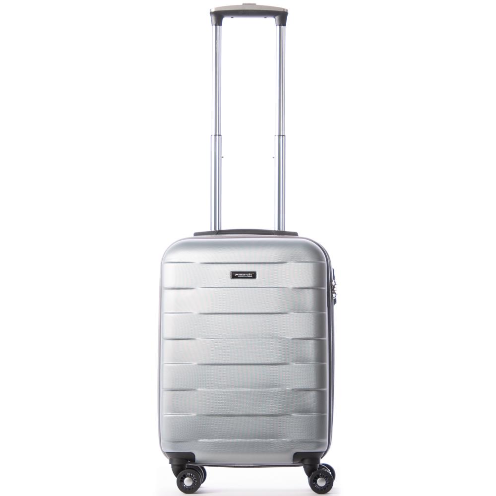 March Bumper Handbagage Koffer Spinner 55 SIlver