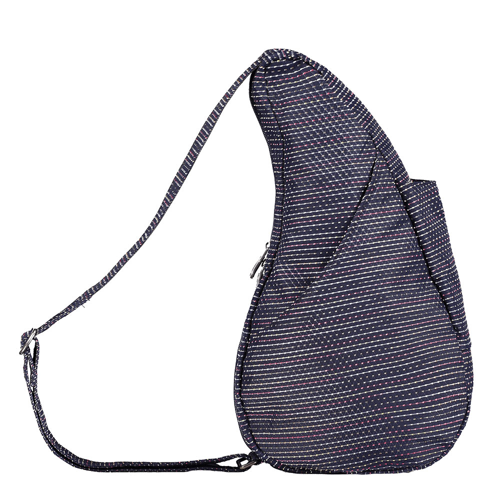 The Healthy Back Bag The Classic Collection Textured Nylon S Microdot Blue Night