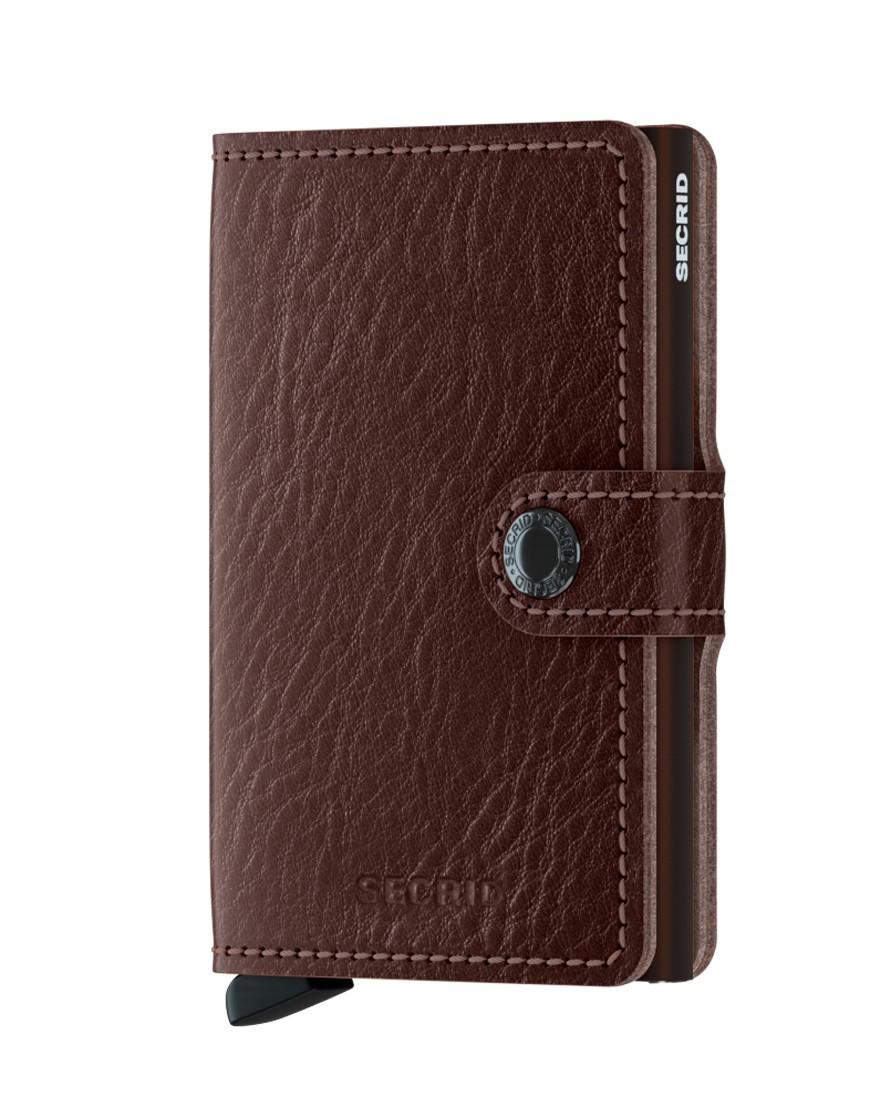 Secrid Mini Wallet Portemonnee Veg Espresso - Brown