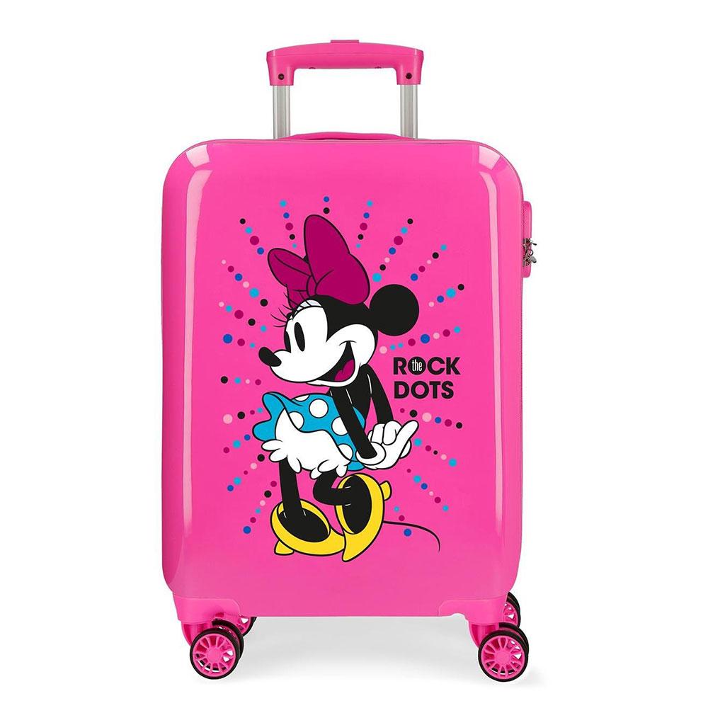 Disney Trolley 55 Cm 4 Wheels Minnie Mouse Rock Dots Fuchsia