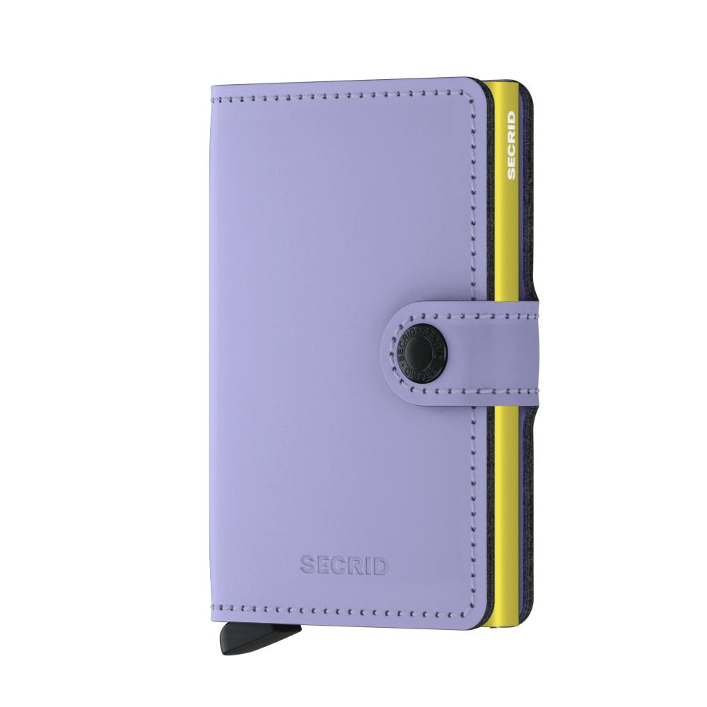Secrid Mini Wallet Portemonnee Matte Lila - Lime