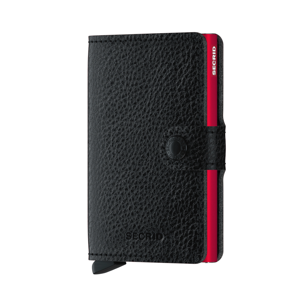 Secrid Mini Wallet Portemonnee Winner 2.0 Veg Black - Red