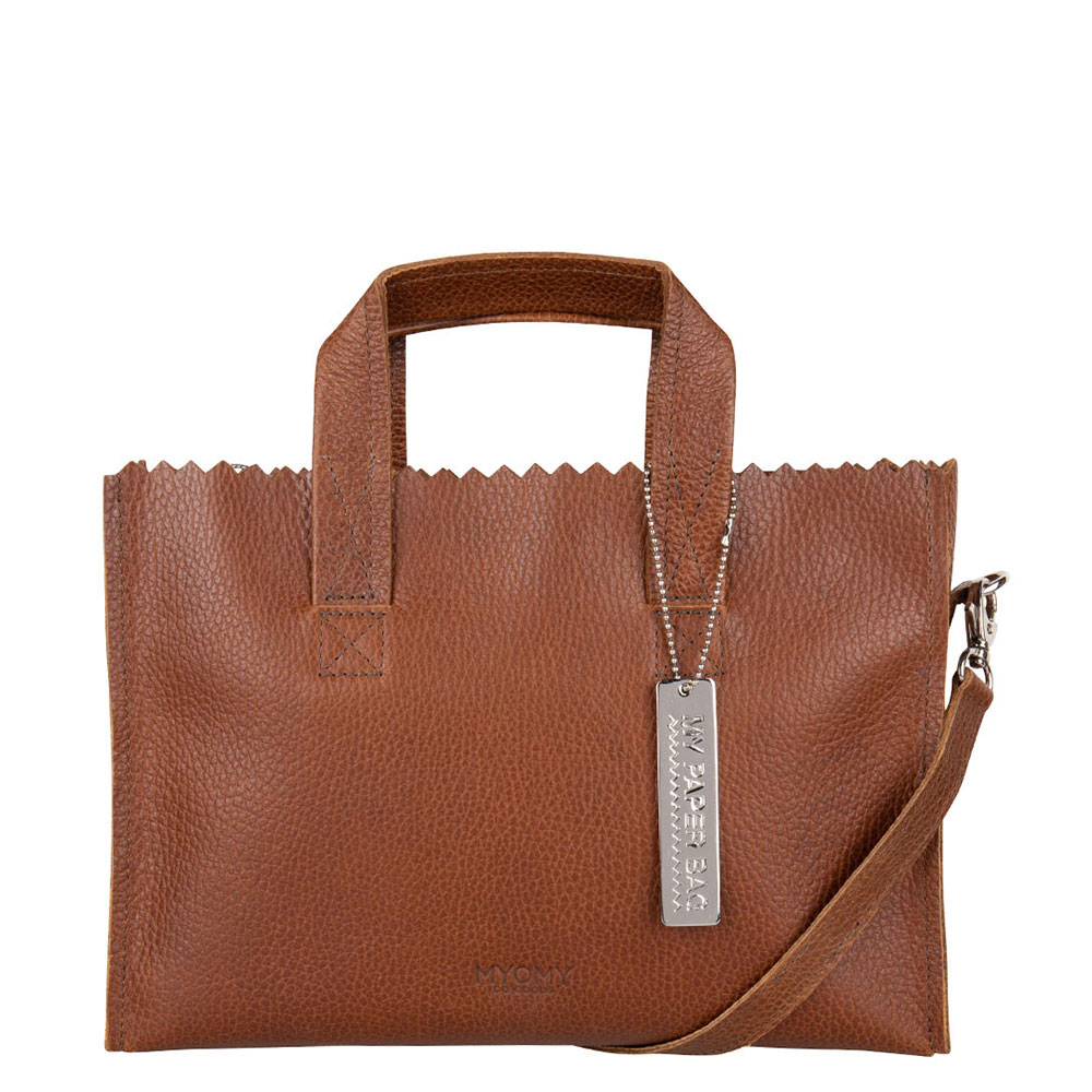 Myomy My Paper Bag Mini Handbag Cross Body Rambler Brandy