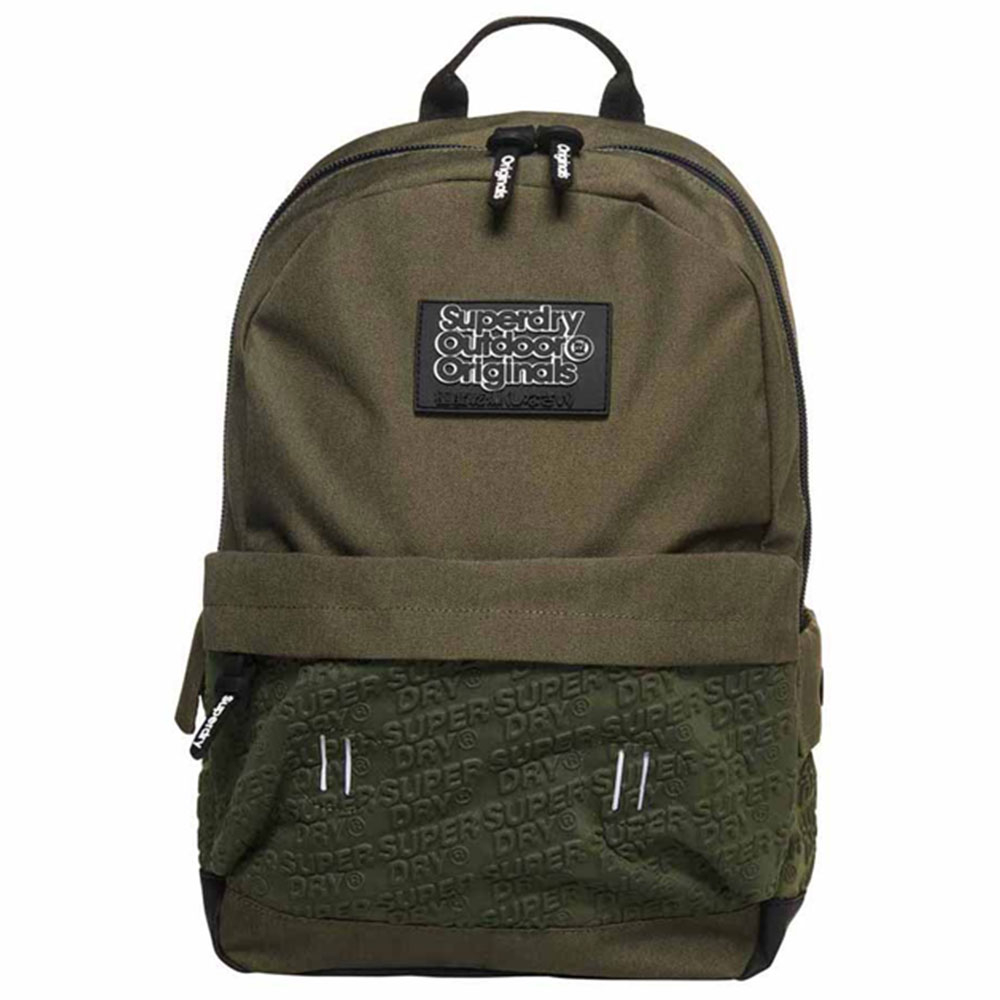 Superdry Montana Neoprene Emboss Panel Backpack Khaki