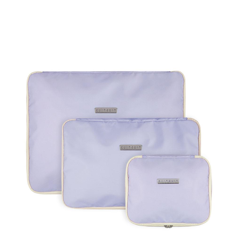 Kledinghoezen SuitSuit Fabulous Fifties Packing Cube Set S M L Paisley Purple
