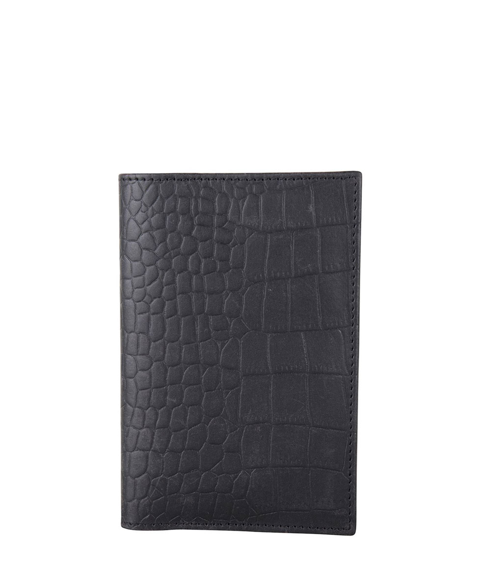 Cowboysbag X Bobbie Bodt Pasport Cover Agate Croco Black