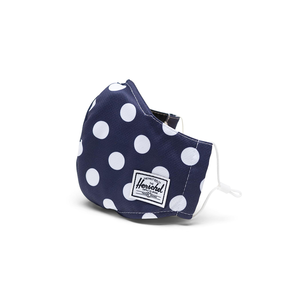 Herschel Classic Fitted Facemask Mondkapje Peacoat Polka Dot
