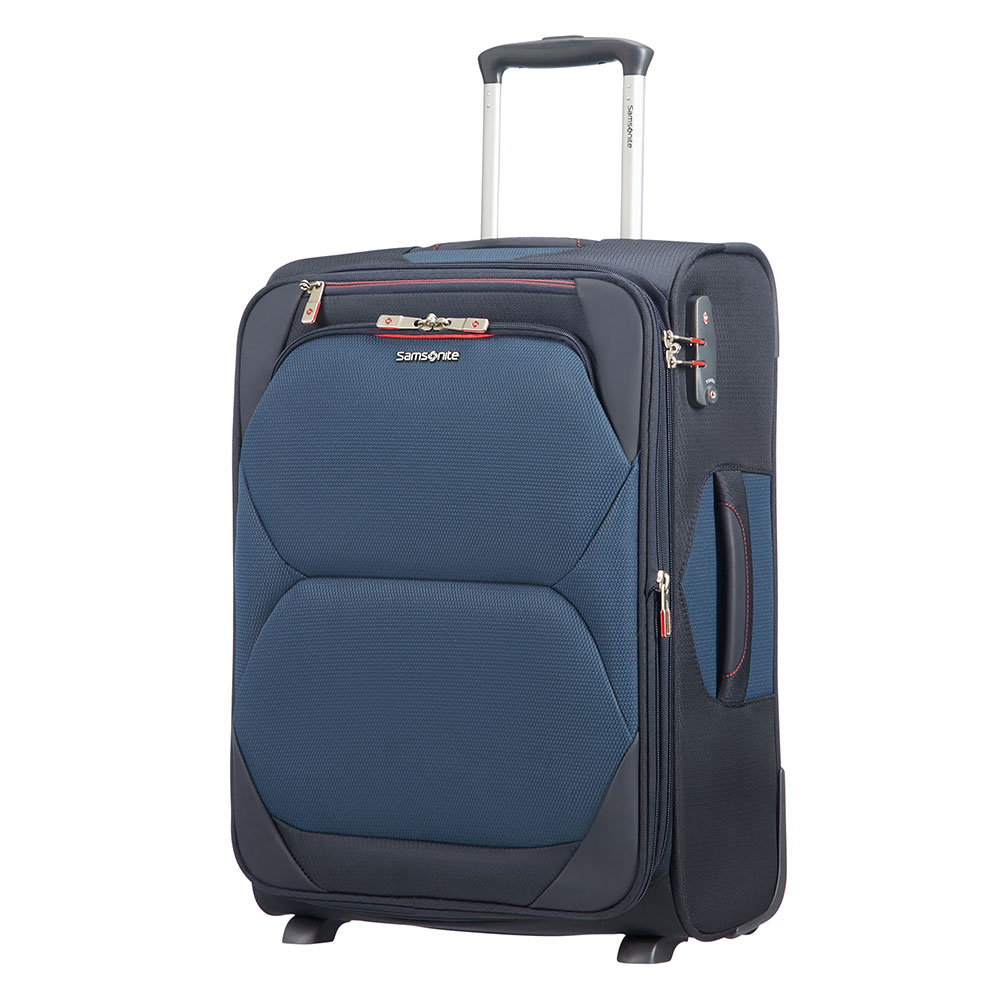 Samsonite Samsonite Dynamore Upright 55 Expandable Length 40 Blue Zachte Koffers