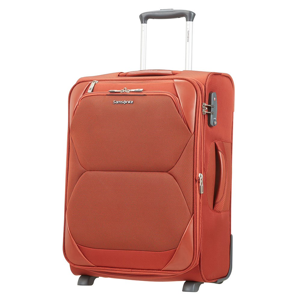 Samsonite Dynamore Upright 55 Expandable Length 40 Burnt Orange Samsonite Zachte Koffers