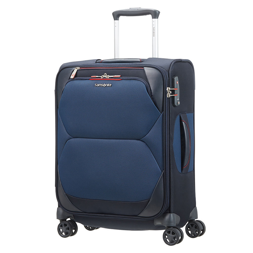 Zachte Koffers Samsonite Samsonite Dynamore Spinner 55 Length 40 Blue