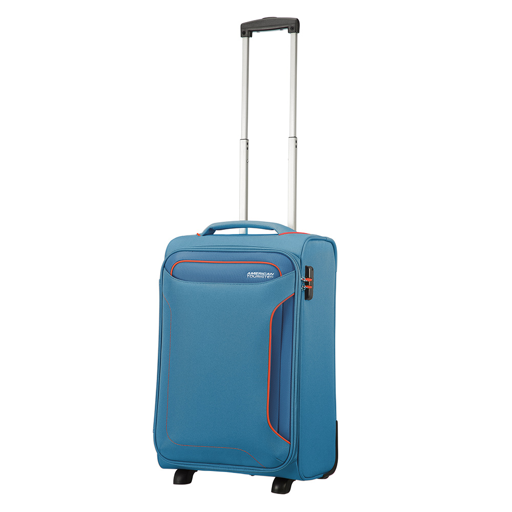 Zachte Koffers American Tourister Holiday Heat Upright 55 Lenght 35 Denim Blue