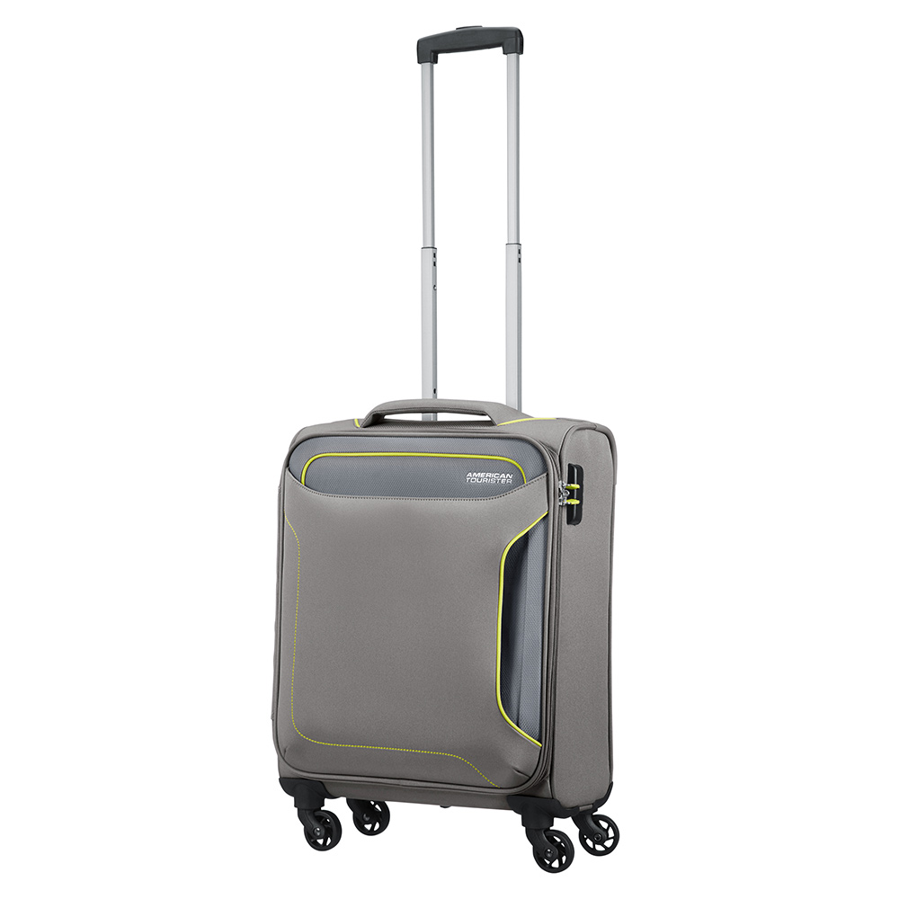 Zachte Koffers American Tourister American Tourister Holiday Heat Spinner 55 Metal Grey