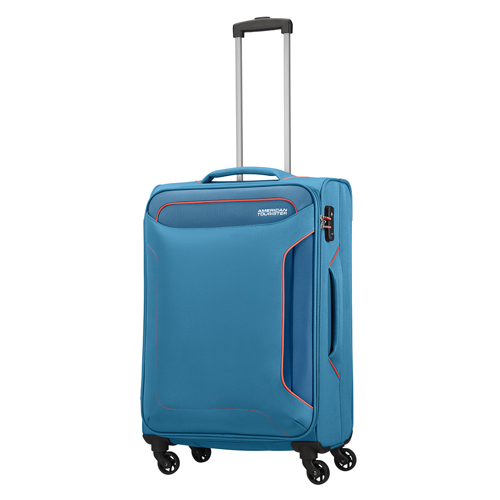 American Tourister Holiday Heat Spinner 67 denim blue Zachte koffer