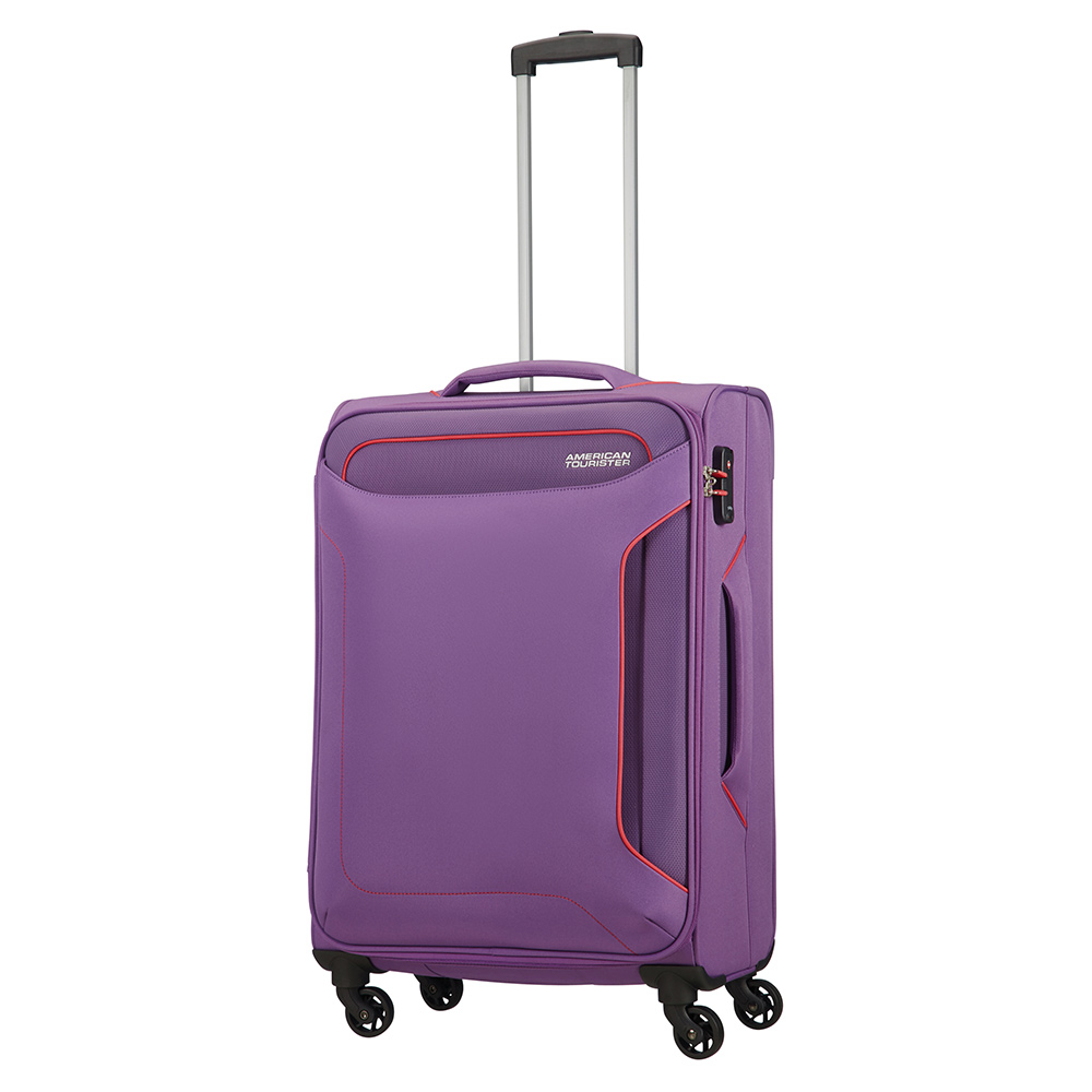 Zachte Koffers American Tourister American Tourister Holiday Heat Spinner 67 Lavender Purple