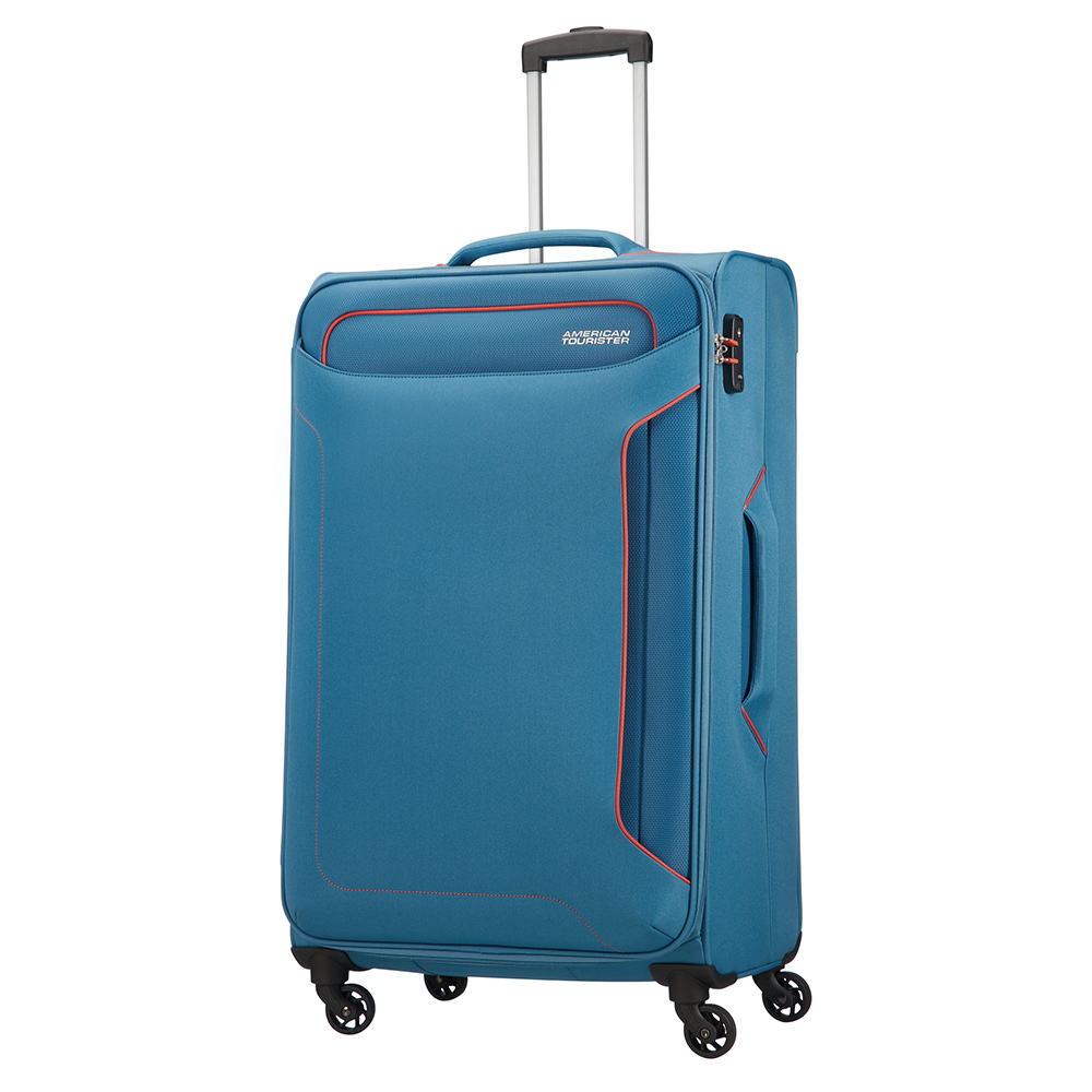 American Tourister American Tourister Holiday Heat Spinner 79 Denim Blue Zachte Koffers