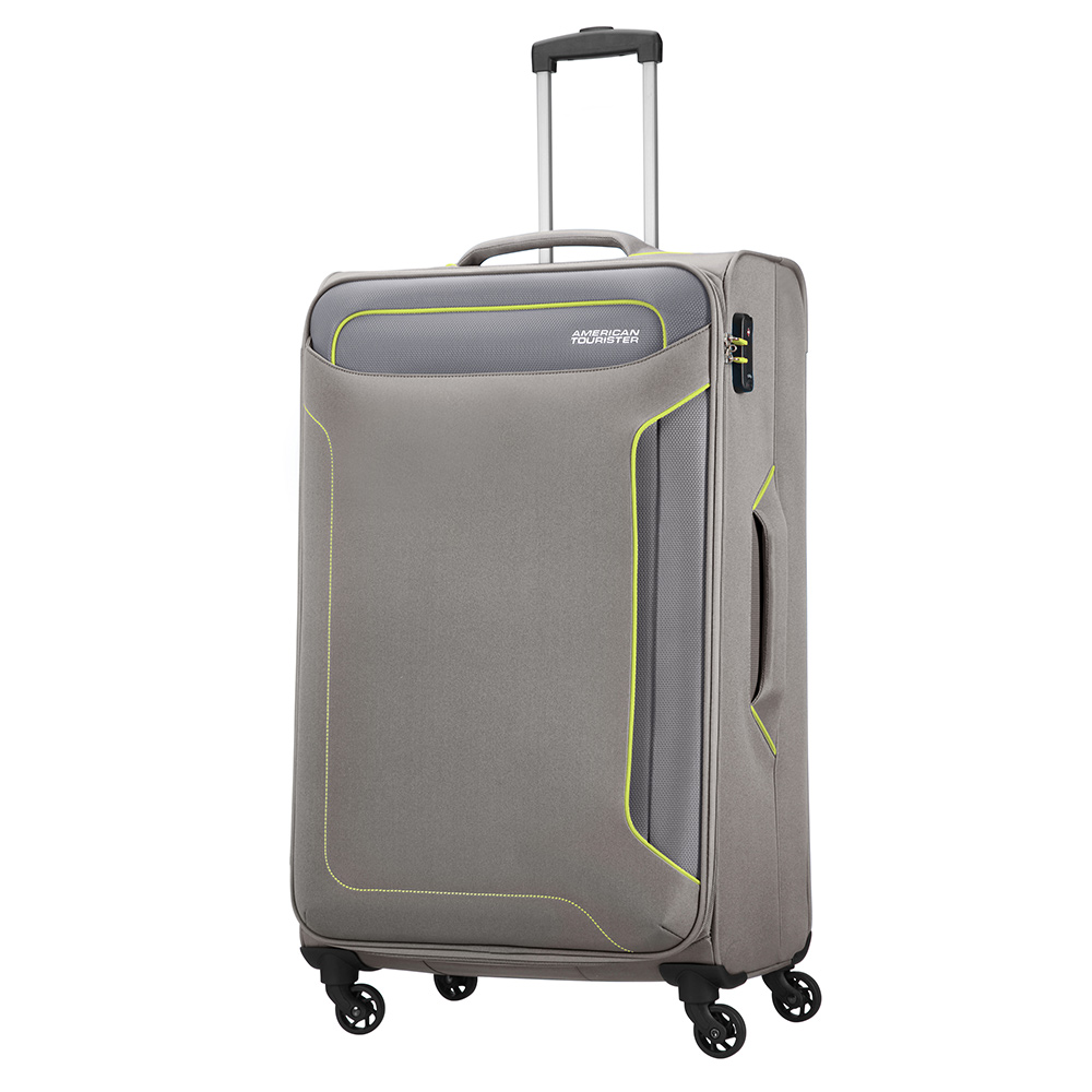 Zachte Koffers American Tourister Holiday Heat Spinner 79 Metal Grey